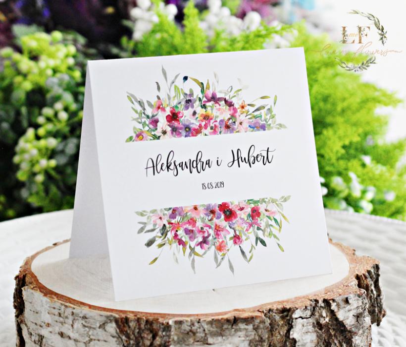 Oryginalne Zaproszenia ślubne akwarele