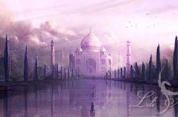 Obraz - Taj Mahal - płótno - indyjski, orientlany