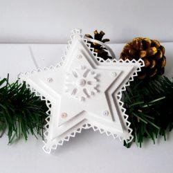 Gwiazdki zawieszki białe