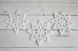 Śnieżynki białe większe - 6 szt.