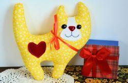 Uśmiechnięty kotek - Słonko - 20 cm