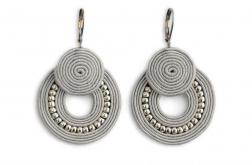 Cimiez - kolczyki koła srebrne