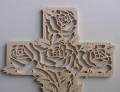 Krzyż drewniany ażurowy