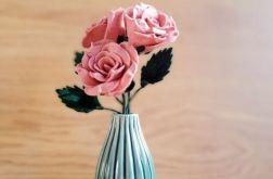 Bukiet róż z filcu (różowy)