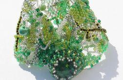 koralikowa fantazja wiosenna zieleń