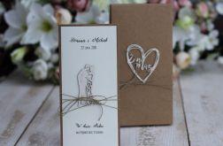 Rustykalna kartka ślubna z pudełkiem 11