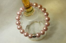 59. Bransoleta z pereł szklanych 10mm