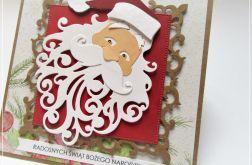 Kartka bożonarodzeniowa z Mikołajem