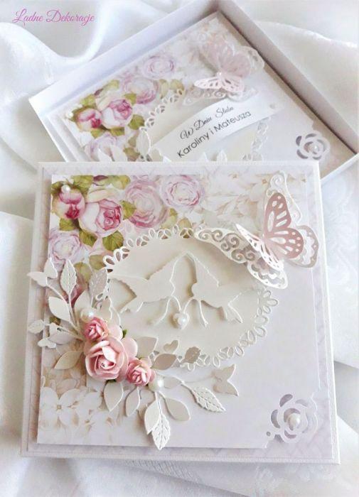 Pamiątka ślubna Białe gołąbki