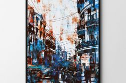 Plakat blue city 50X70 B2