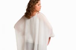 Szyfonowa tunika-narzutka biała