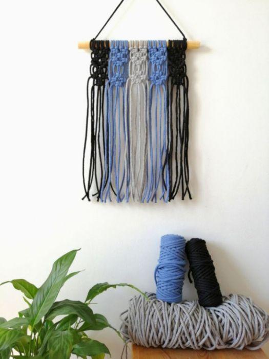 Makrama na ścianę, dekoracja boho MS060 -