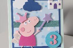 Kartka na urodziny Peppa księżniczka