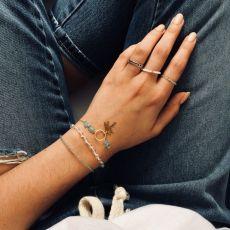 Drop Sparkles white pierścionek elastyczny