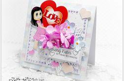 Kartka dla Babci z sercem