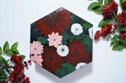 Szkatułka bordowe kwiaty PREZENT święta