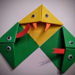 Zakładki do książek origami wąż, żmija i żaba - Zestaw 3 zakładek