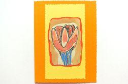 Kartka uniwersalna - tulipan 6