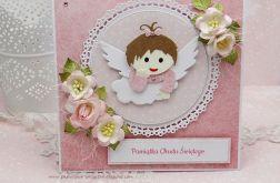 Z aniołkiem - pamiątka Chrztu w pudełku