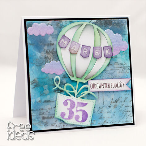 Kartka urodzinowa z balonem na 35 KU1959