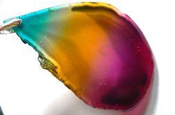 Agat Rainbow, tęczowy kamień, duży plaster