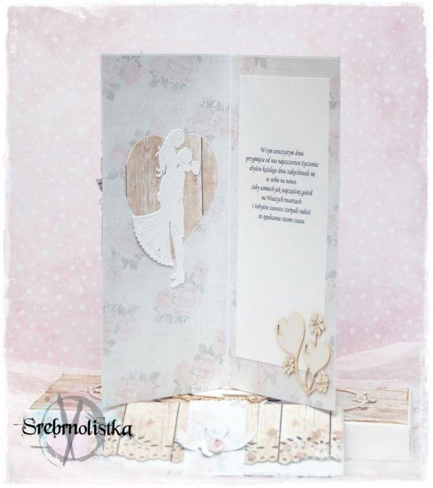 Kartka ślubna+pudełko, vol.12 na zamówienie