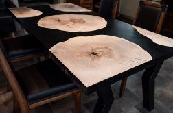 Stół jadalniany z jawora i czarnej żywicy