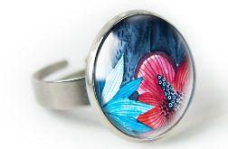 Malwa pierścionek z ilustracją