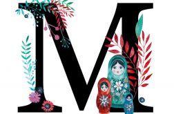 Alfabet M wydruk ilustracji