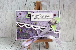 Ślubna mini kopertówka - fioletowa