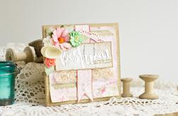 WZÓR Dzień Matki - kartka pastele