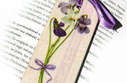 Zakładka - Bukiet fiołków, wiosenne kwiaty