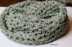 Komin biało-zielony