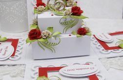 Z obrączkami- pudełko ślubne