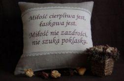 """Poduszka """"Rustykalna miłość"""""""