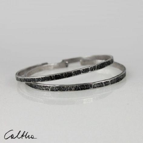 Komplet 2 srebrnych bransoletek 190811-08