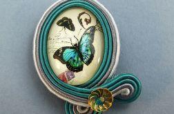 Broszka z motylkiem