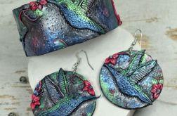 Biżuteria KOLIBER- kolczyki koła i bransoleta
