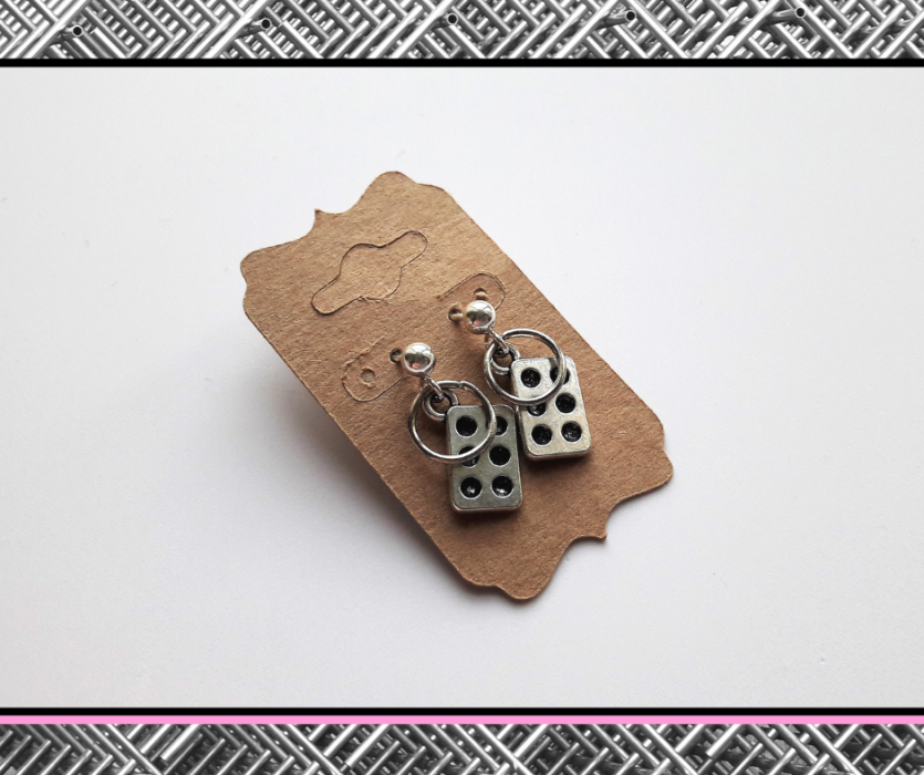 Kolczyki z serii StaLove - domino -