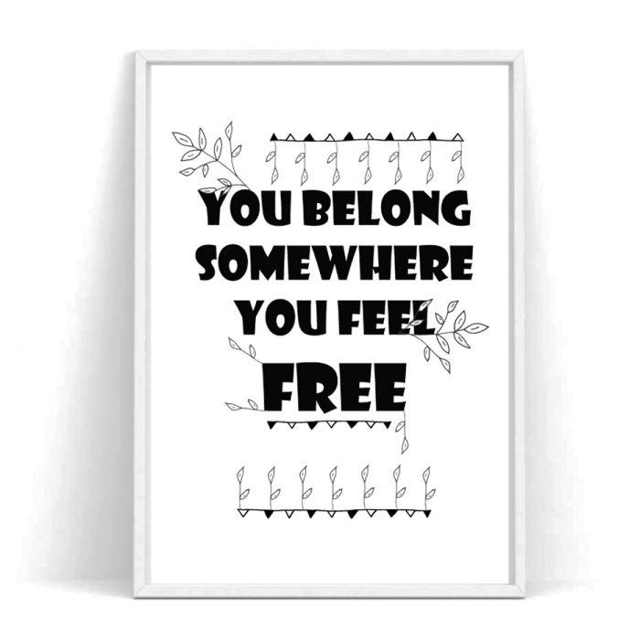 Plakat You belong... -