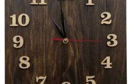 Zegar ścienny drewniany kwadrat 1