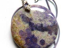 Liliowy koral skamieniały fossil, unikatowy