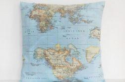 Mapy - poduszka Canvas