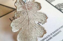 Listek debu zwyczajnego w srebrze -naszyjnik