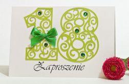 Zaproszenie na 18 osiemnaste urodziny green