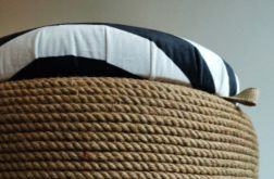 Puf pufa 'Black&White' DIY boho/rustykalny
