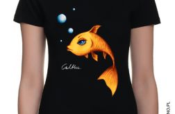 Złota rybka - t-shirt damski (kolory) 2