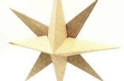 Bombka origami gwiazda z papieru łezki