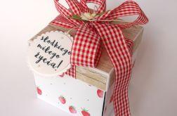 Pudełko na ślub Truskawki