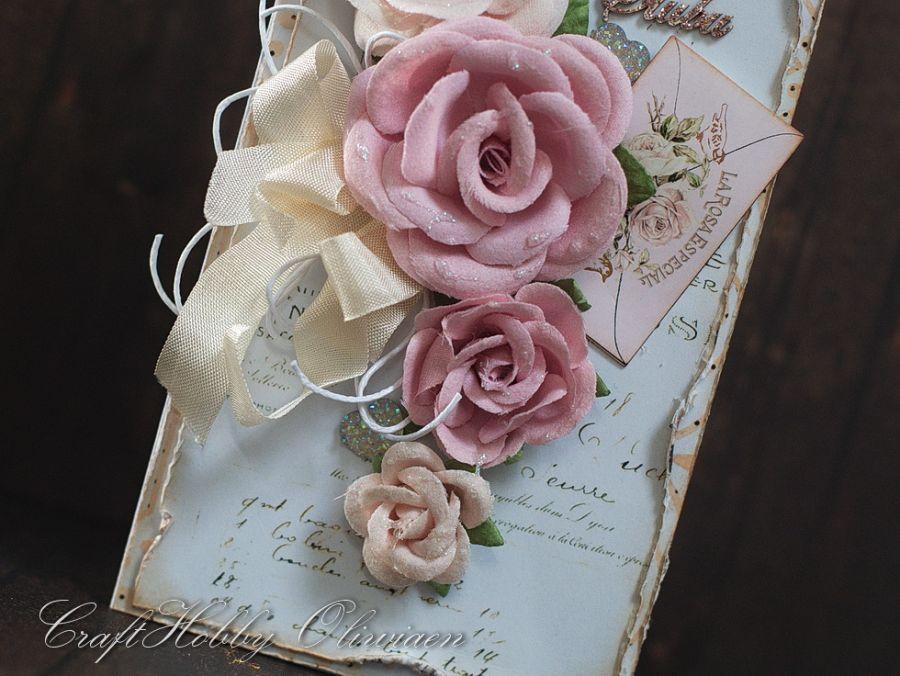 Bukiet ślubny z listem